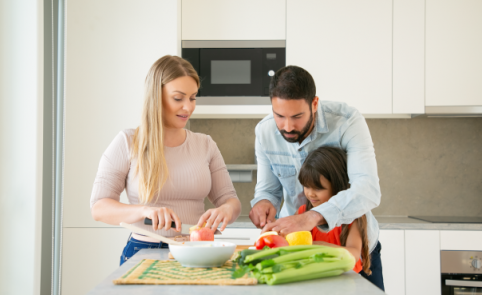 Hábitos de alimentación saludable para sus hijos